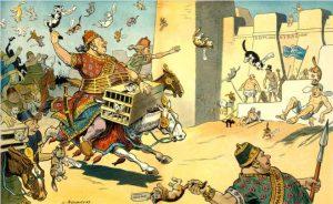 শিল্পীর তুলিতে আঁকা পেলুসিয়ামের যুদ্ধ