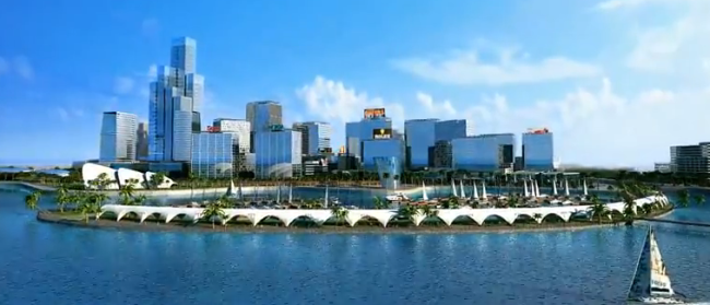 An artist's impression of the Colombo Port City. Image Credit: Wikipedia