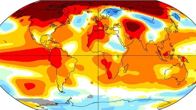 Global average temperature anomalies for January 2016. Image Credit: NASA GISS