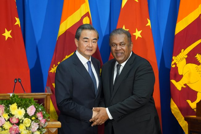 The Ranil-Maithree coalition seems to have accepted that we can't completely write China off. Image courtesy atimes.com