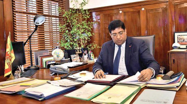 Finance Minister Ravi Karunanayake preparing for his highly anticipated budget presentation. Image courtesy Daily News