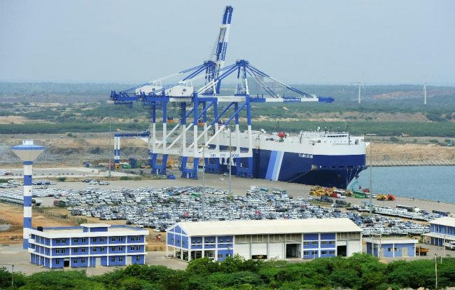 Not for the first time, the Magamura Port - one of the Rajapaksa regime's pet projects in Hambantota - was in the limelight the last week. Image credit: (AFP/Lakruwan Wanniarachchi