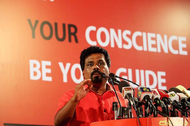 The JVP has come a long way under the leadership of Anura Dissanayake. Image courtesy Colombo Telegraph