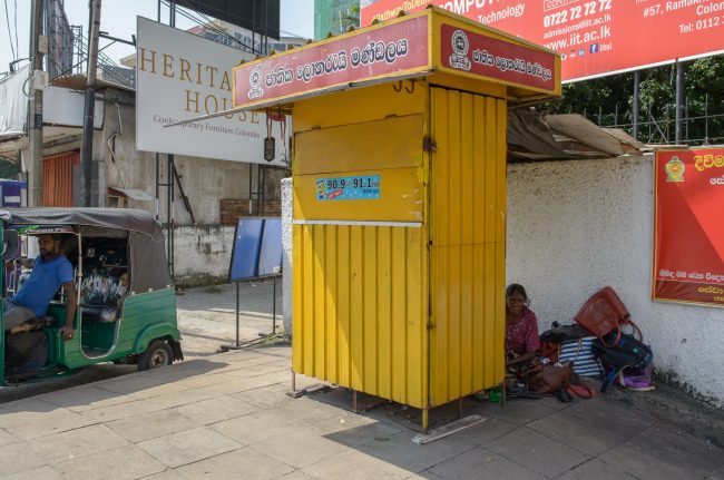 Many lottery ticket booths remained shut for five days following the dawn of the new year. Image credit: Roar.lk/Christian Hutter